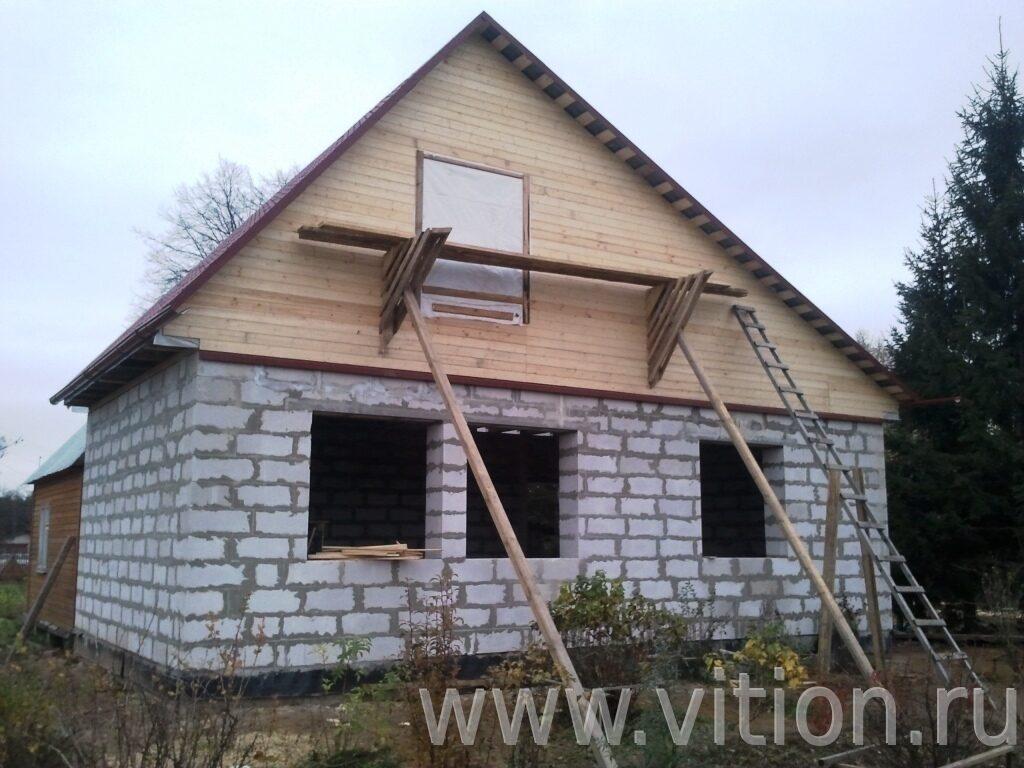 Строительство одноэтажного дома своими руками из пеноблоков