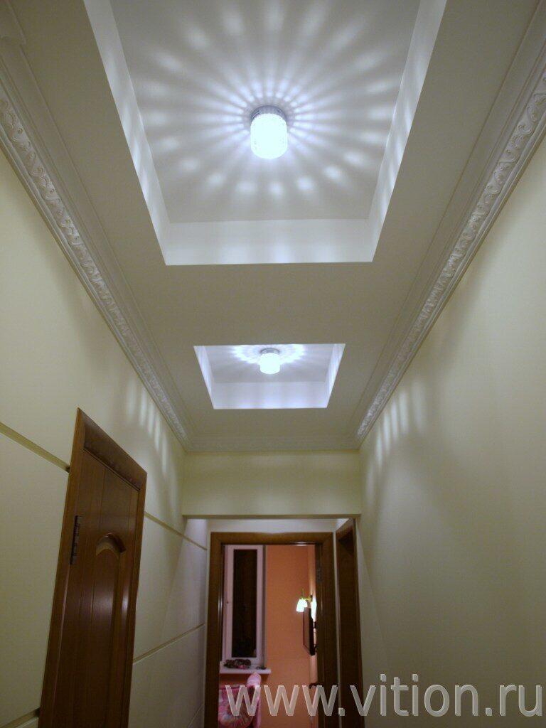 фото потолок гипсокартон коридор