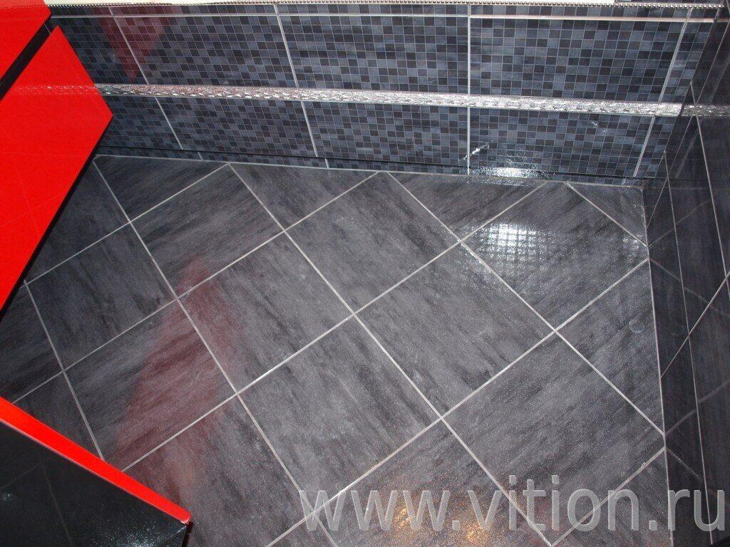 Плитка на полу в туалете видео 2