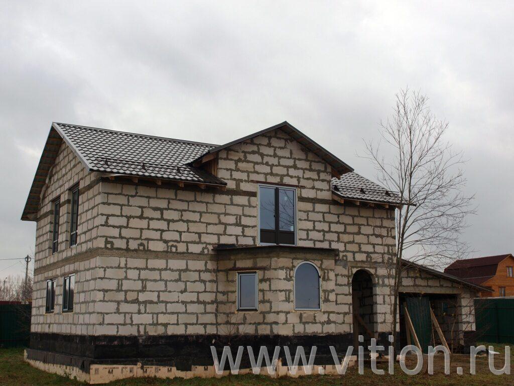 Двухэтажные дома своими руками из пеноблоков